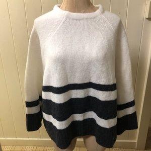 BANANA REPUBLIC sz M MERINO WOOL Sweater 3/4 Sleev